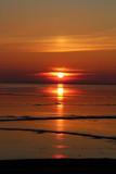 Sonnenuntergang am Dollard Nordsee