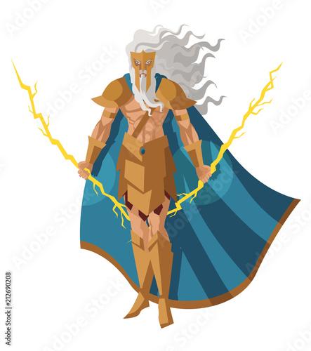 zeus Jupiter, bóg promienia