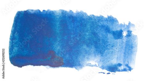 niebieski element projektu akwarela plama, z paperhandhand-drawn