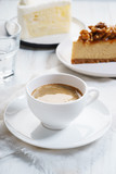 cup of coffee with cake - 212701231