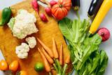 Set raw vegetables cooking healthy vegetable food top view - 212703815