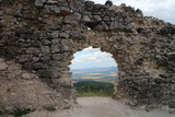 Arch in wall of ruins of Tematin castle, western Slovakia