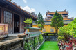Amazing garden and old buildings at the Purple Forbidden City