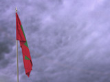 Flag of Maldives hanging down dangling - 212722618