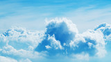 Above the clouds. Beautiful above sky panoramic view - 212722658