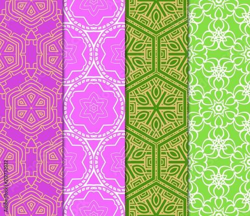 Wzory geometryczne Azuro. Zestaw. Ilustracji wektorowych