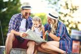 Family Enjoying Traveling