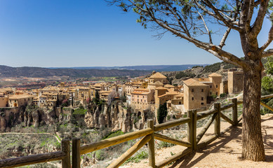 View over the historic city of Cuenca, Spain