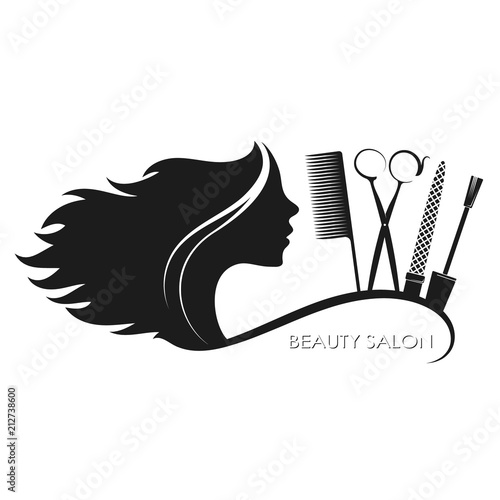Beauty salon hairstyles and manicure - 212738600