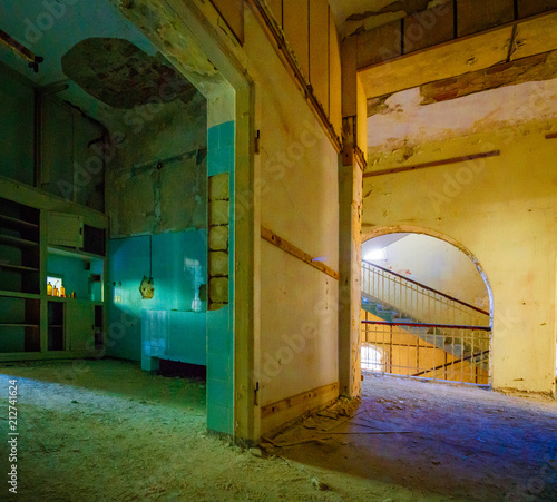 Foto Murales Lost Place Treppenhaus