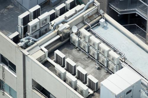 Foto Murales ビルの屋上・イメージ・空調設備・電力変電設備