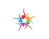 Group community team people logo and symbols star - 212749808