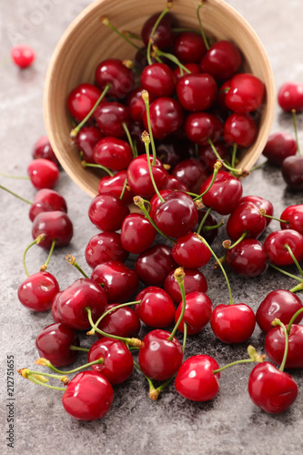 Foto Spatwand Kersen delicious cherry fruit