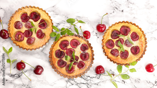 cherry fruit clafoutis - 212751894
