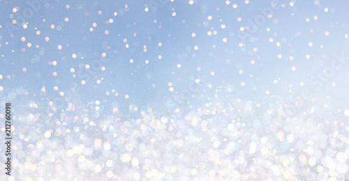 canvas print picture bokeh background stars blue
