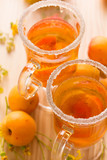 Refreshing drink with fresh apricots