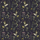 Watercolor floral vector pattern - 212772618