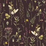 Watercolor floral vector pattern - 212772643