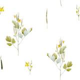 Watercolor floral vector pattern - 212772665