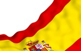 The flag of Spain. Official state symbol of the Kingdom of Spain. Concept: web, sports pages, language courses, travelling, design elements. 3d illustration - 212773468