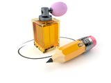 Perfume bottle with pencil - 212773475