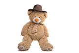 soft toy bear isolated - 212775035