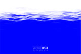 Vector backgroud. Realistic water surface illustration. - 212778041