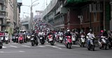 Crowded of scooter in taipei city - 212779878
