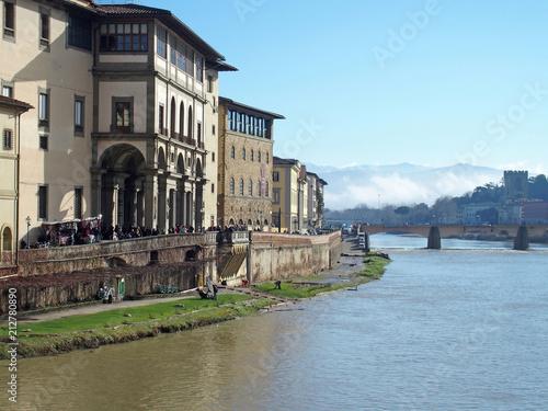 Fotobehang Florence Florenzer Villen am Arno