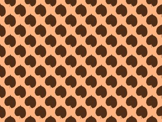Seamless pattern. Leaves on a brown background