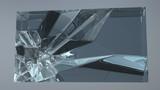 cracks inside the glass cube - 212785048