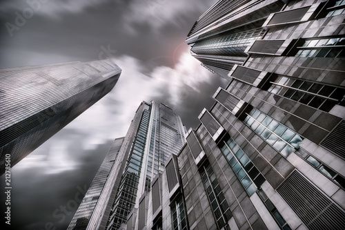 Fototapeta China: modern shapes of architecture in abstract style