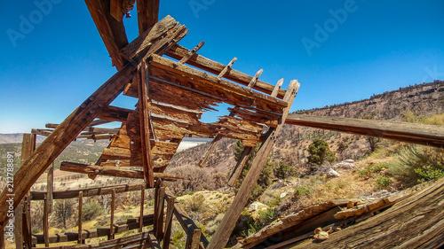 Fotobehang Schip Baldwin Mine