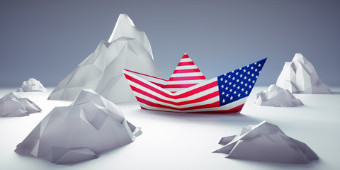 Papierschiff - USA auf unsicherem Kurs