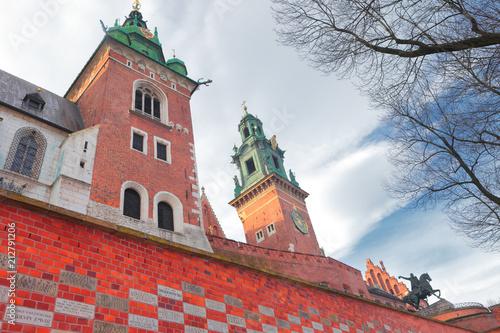 Aluminium Krakau Krakow, a detail of Wawel Castle, Poland