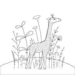 children s coloring book with cartoon animals. Educational tasks for preschool children © veta0003