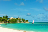 The sunny tropical Dover Beach on the island of Barbados - 212795429