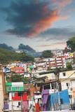 Rio de Janeiro downtown and favela - 212797686