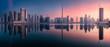 Leinwanddruck Bild - Panoramic view of Dubai Business bay, UAE