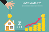Business concept. Investing, real estate, investment opportunity. Vector illustration - 212800884