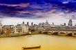 London skyline with background St. Paul Cathedral