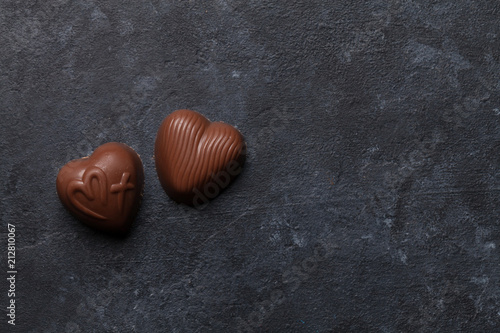 Chocolate heart sweets