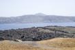 View from the top of Nea Kameni to island Santorini