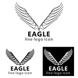 Eagle logo icon, clip art vector illustration. - 212816618