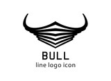 Symbolic buffalo, bull logo vector illustration. - 212816652