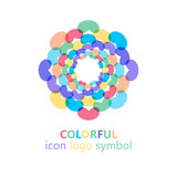 Colorful flower logo, symbol, vector illustration. - 212816683