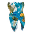 Постер, плакат: Tooth with blue Earth map texture Global dentistry concept 3D rendering