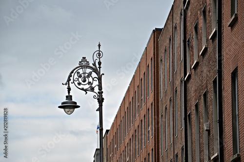 lamp on a dublin street