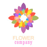 Colorful flower logo, symbol, vector illustration. - 212820086