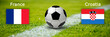 Leinwanddruck Bild - Finale Frankreich gegen Kroatien